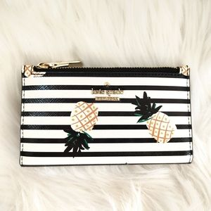 New Kate Spade Cameron St Mikey Pineapple Wallet